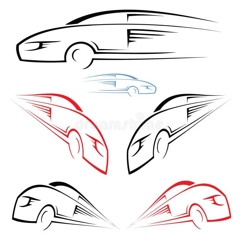 Symbol des schnellen Autos vektor abbildung. Illustration von zeilen ...
