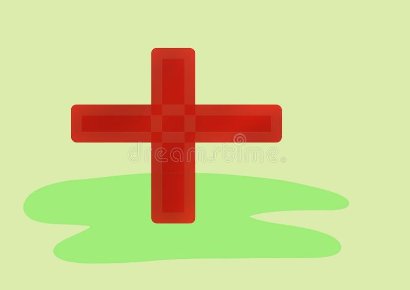 Symbol des Weltroten kreuzes Tages lizenzfreie abbildung
