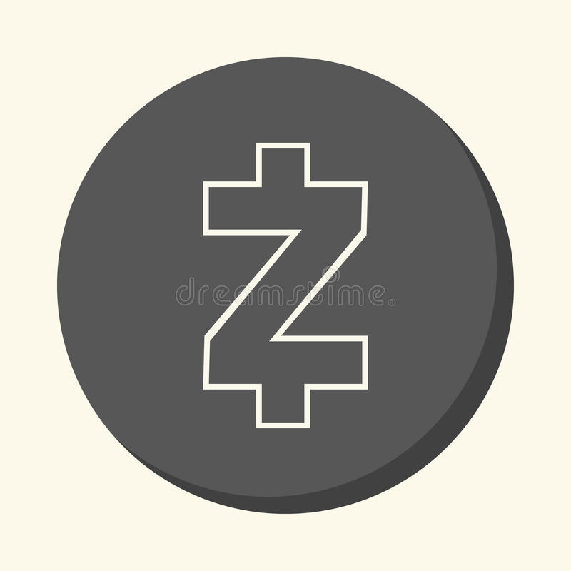 Symbol Of Digital Crypto Currency Zcash Round Linear Icon With