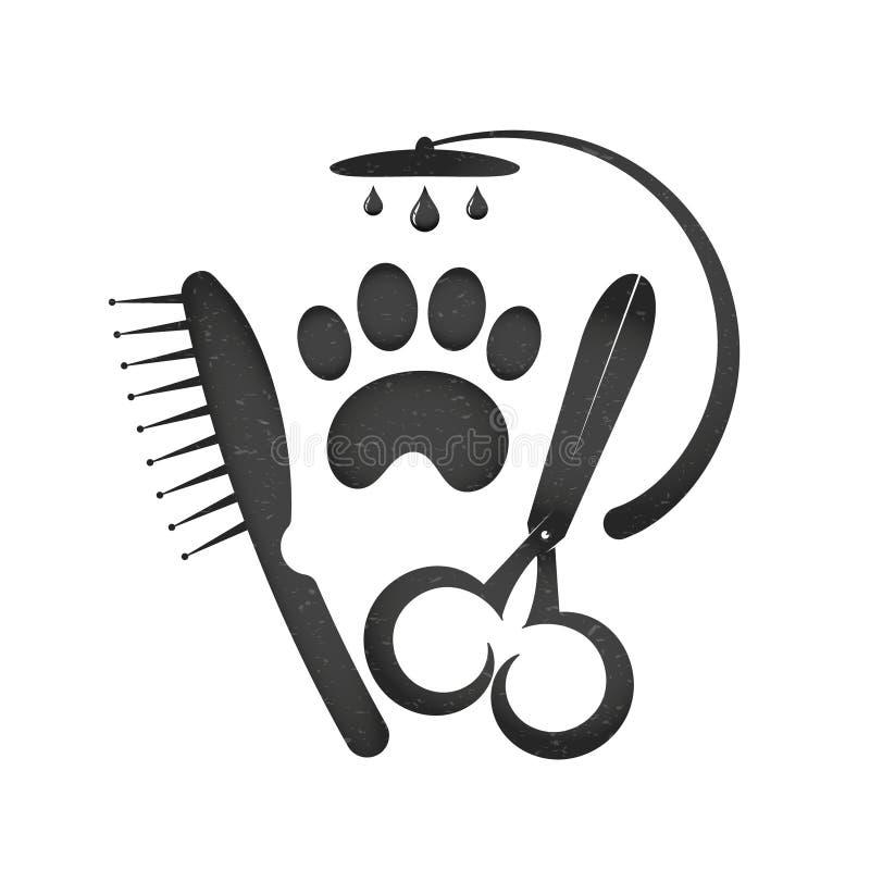 Symbol dla fryzury psy ilustracja wektor