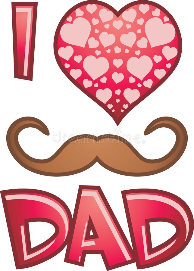 Symbol dla ojca dnia ilustracja wektor