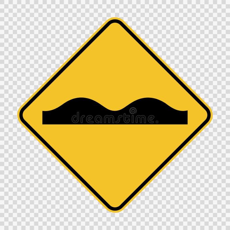 symbol drogowej powierzchni Nierówny znak na przejrzystym tle ilustracja wektor