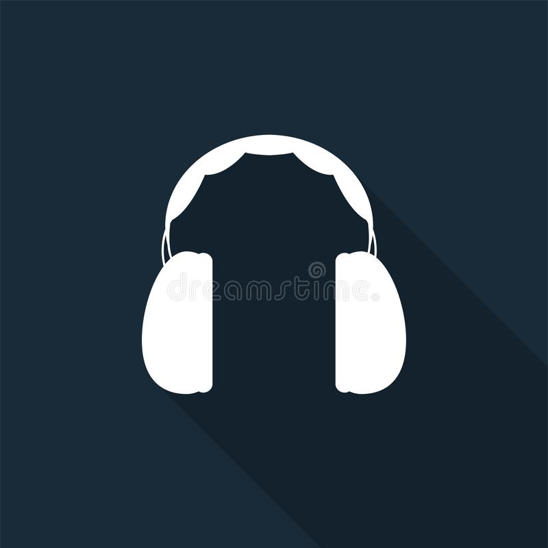 Symbol Ear Protection Required Sign on black background,Vector illustration stock illustration