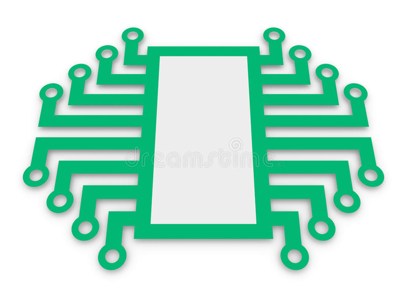 Download Symbol Of Electronic Microchip Stock Illustration - Image: 24043970