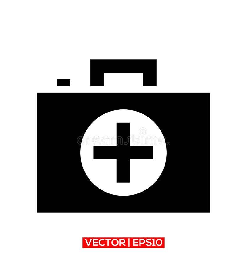 Symbol eller illustration för logo för vektor för medicinportföljsymbol vektor illustrationer