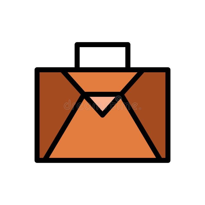 Symbol eller illustration f?r logo f?r vektor f?r resv?skap?sesommar Redigerbar slagl?ngd och f?rg r stock illustrationer