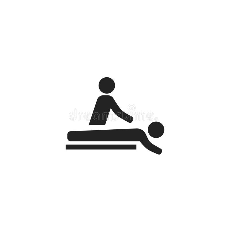 Symbol, symbol eller logo för massageskåravektor stock illustrationer