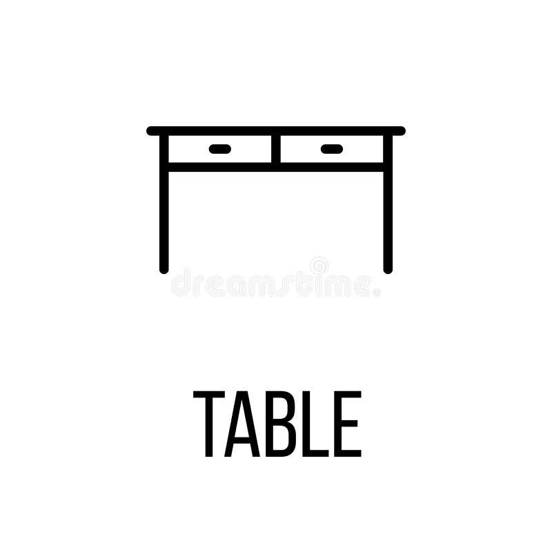 Symbol eller logo i den moderna linjen stil royaltyfri illustrationer