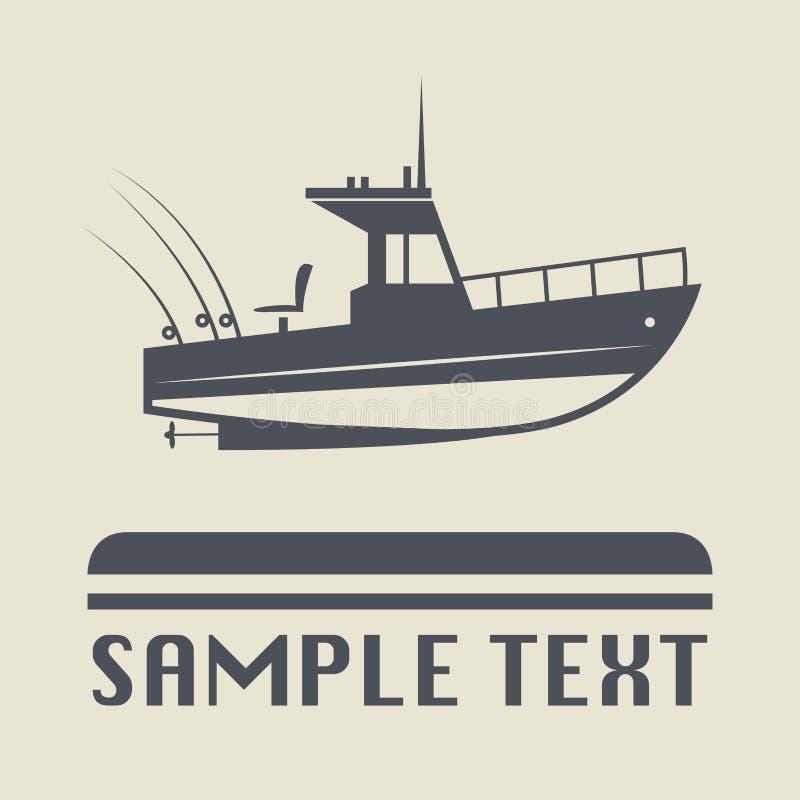 Symbol eller tecken för motoriskt fartyg stock illustrationer