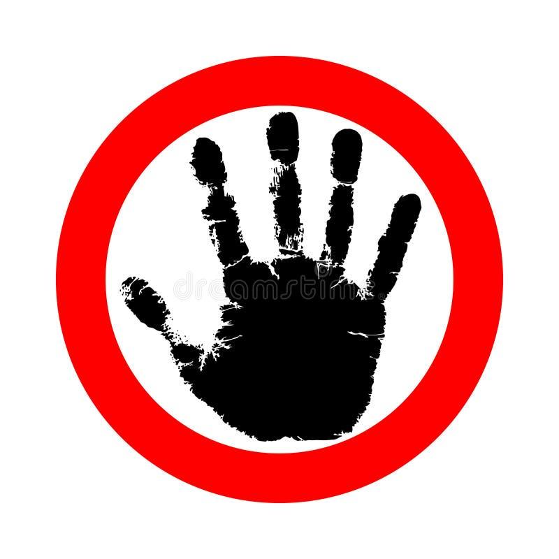 Symbol- eller teckenstopp royaltyfri illustrationer