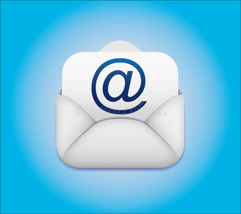 Symbol email Envelope Icon vector illustration