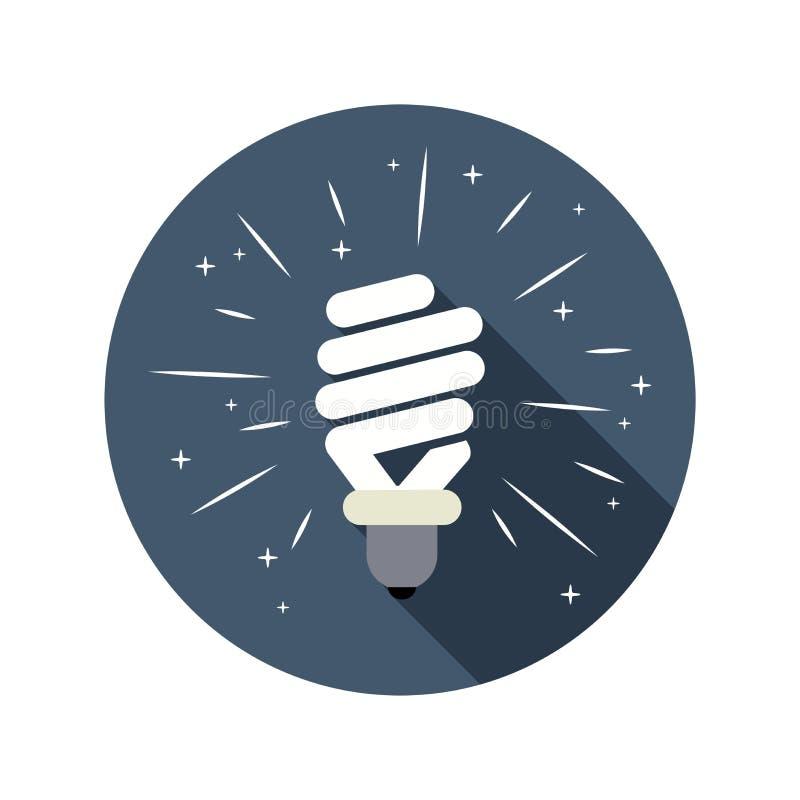 symbol of energy saving lamp. vector royalty free illustration