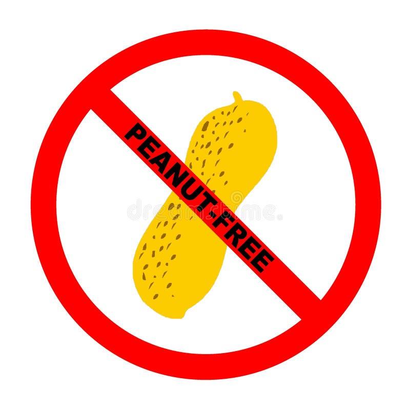 Symbol: Erdnuss-Freier Text lizenzfreie abbildung