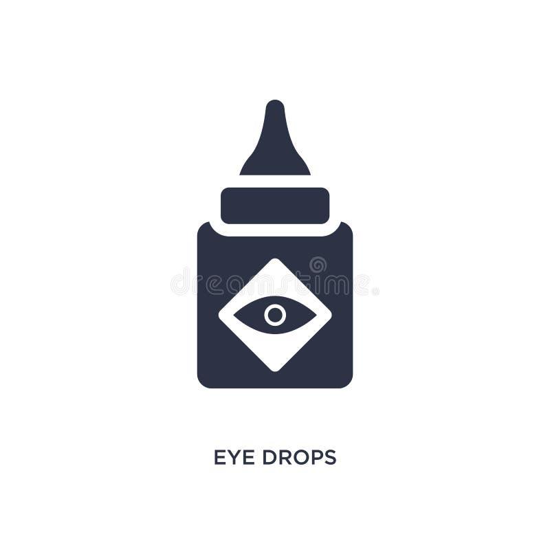 symbol för ögondroppar på vit bakgrund Enkel beståndsdelillustration från medicinskt begrepp vektor illustrationer