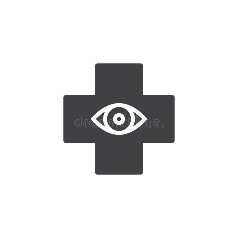 Symbol för ögonsjukhusvektor royaltyfri illustrationer