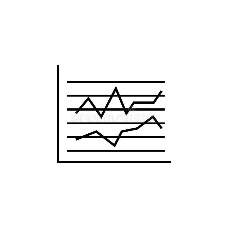 Symbol för översikt för affärsstatistik-finans Beståndsdel av finansillustrationsymbolen tecknet symboler kan användas för rengör vektor illustrationer