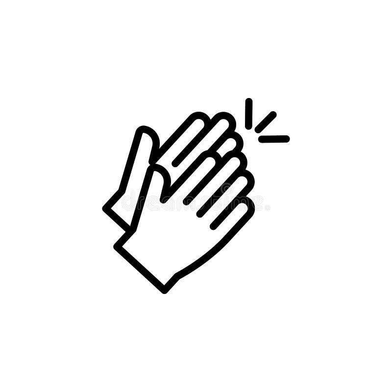 Symbol för översikt för applådhandgest Beståndsdel av symbolen för illustration för handgest tecknet symboler kan användas för re vektor illustrationer