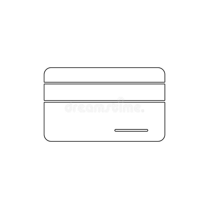 Symbol för översikt för betalning för debitering för kortkassakreditering Tecknet och symboler kan anv?ndas f?r reng?ringsduken,  vektor illustrationer