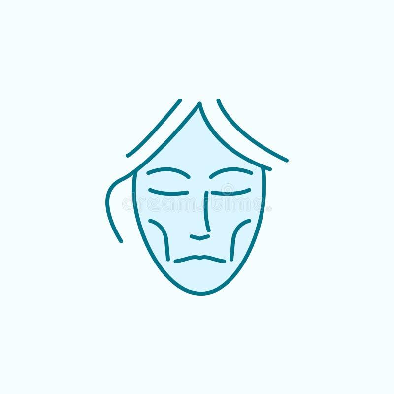 Symbol för översikt för fält för anorexiskönhet anti--åldras stock illustrationer