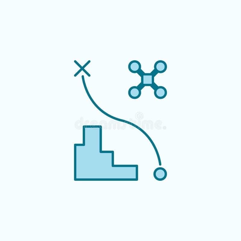 symbol för översikt för fält för surrflygbana stock illustrationer