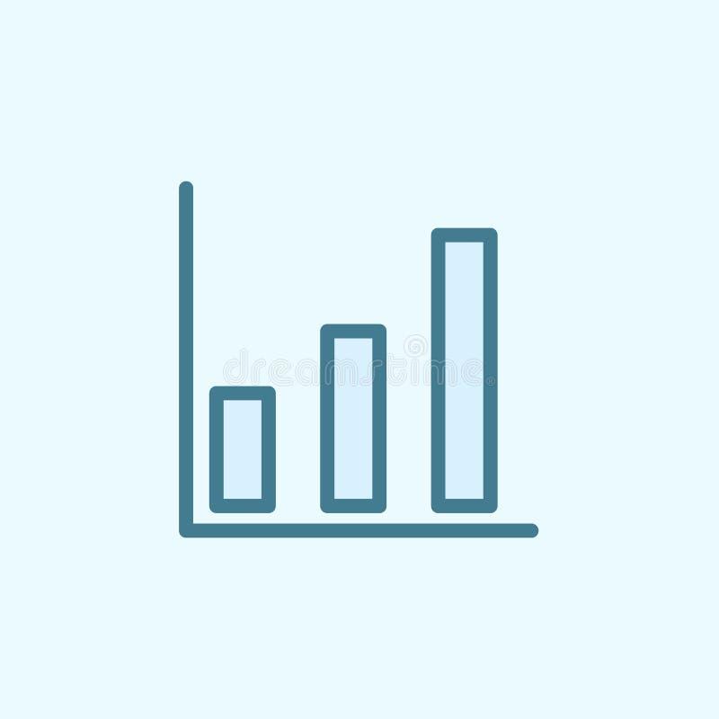 symbol för översikt för fält för tillväxtdiagram Beståndsdel av den enkla symbolen för 2 färg Tunn linje symbol för websitedesign royaltyfri illustrationer