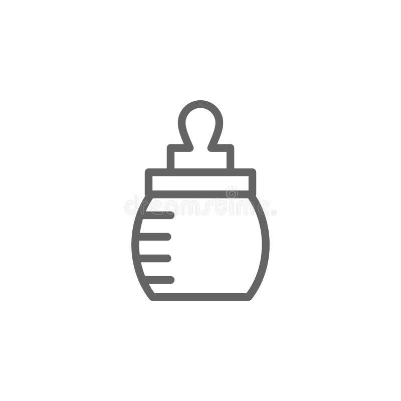 Symbol f?r ?versikt f?r flaska f?r matning f?r moderdag Best?ndsdel av symbolen f?r illustration f?r moderdag Tecknet och symbole royaltyfri illustrationer