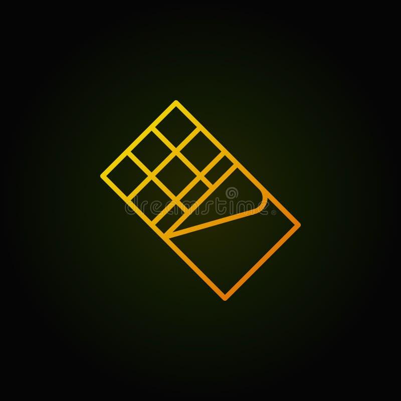 Symbol för översikt för guling för chokladstång Vektorbegreppssymbol vektor illustrationer