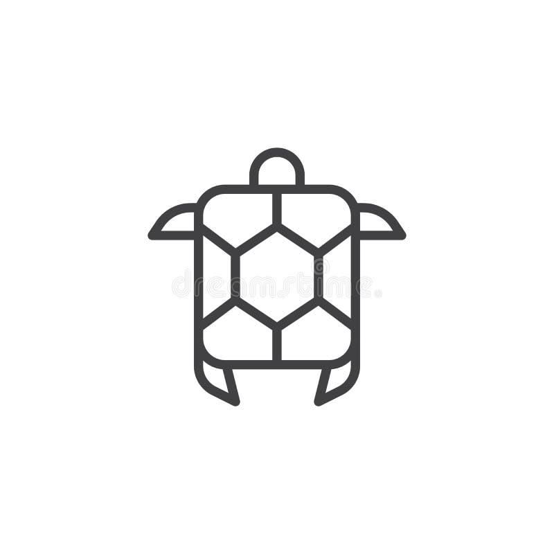 Symbol för översikt för havssköldpadda royaltyfri illustrationer