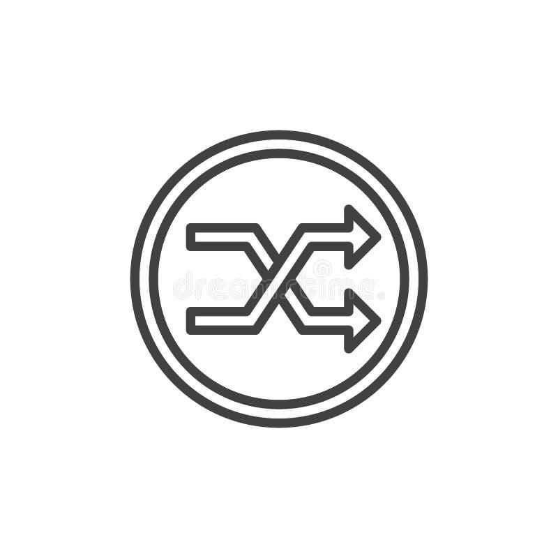 Symbol för översikt för knapp för röramusikspelare stock illustrationer