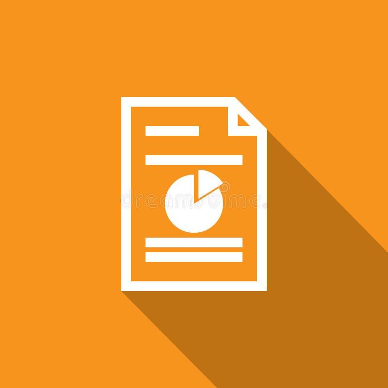 symbol för översikt för räknearkdokumentpapper tunn linje stil för diagram och rengöringsdukdesign Enkel plan symbolvektorillustr royaltyfri illustrationer