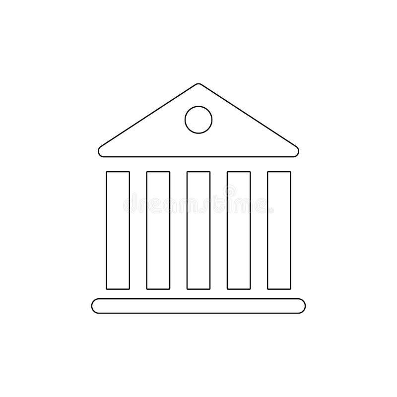 Symbol för översikt för regeringpanteonbyggnad Tecknet och symboler kan anv?ndas f?r reng?ringsduken, logoen, den mobila appen, U royaltyfri illustrationer