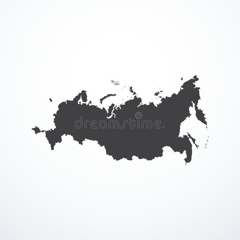 Symbol för översikt för rysk federation för vektor royaltyfri illustrationer