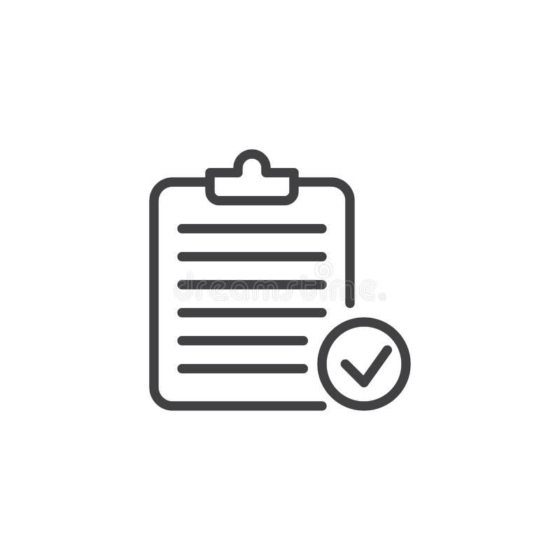 Symbol för översikt för skrivplattakontrollfläck vektor illustrationer