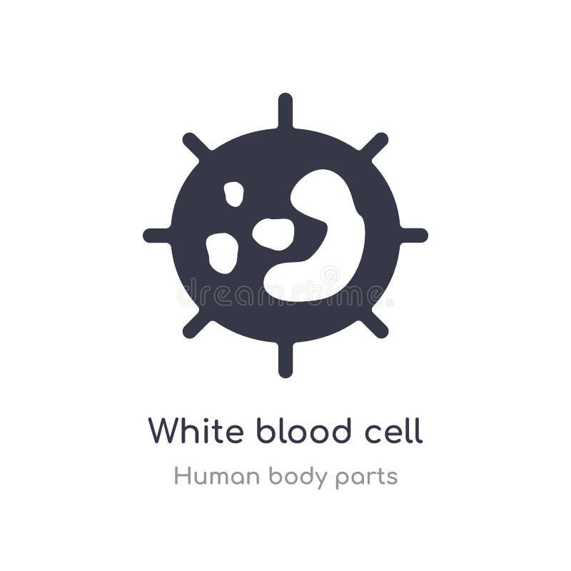 symbol för översikt för vit blodcell isolerad linje vektorillustration fr?n samling f?r m?nniskokroppdelar vit redigerbar tunn sl royaltyfri illustrationer