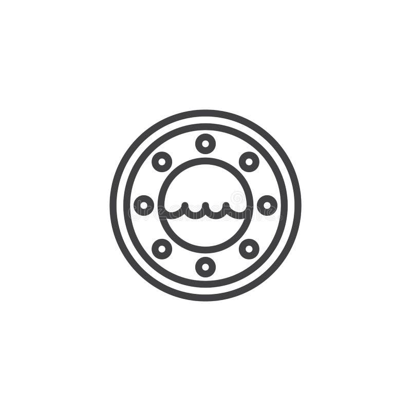 Symbol för översikt för yachtkabinfönster vektor illustrationer