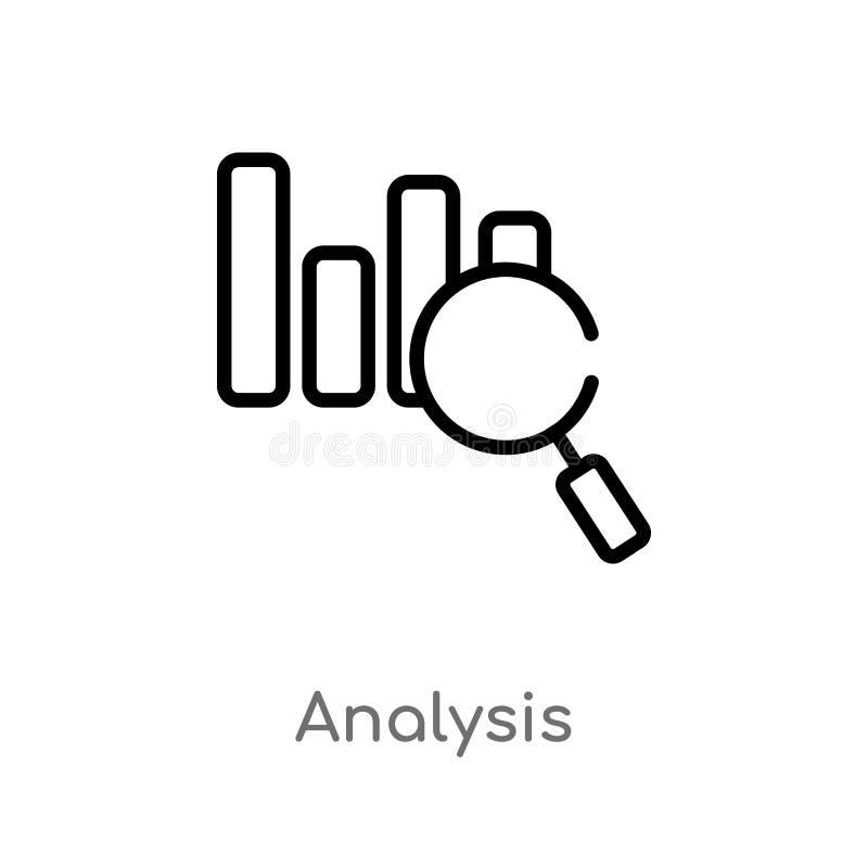 symbol för översiktsanalysvektor E Redigerbar vektorslaglängd royaltyfri illustrationer