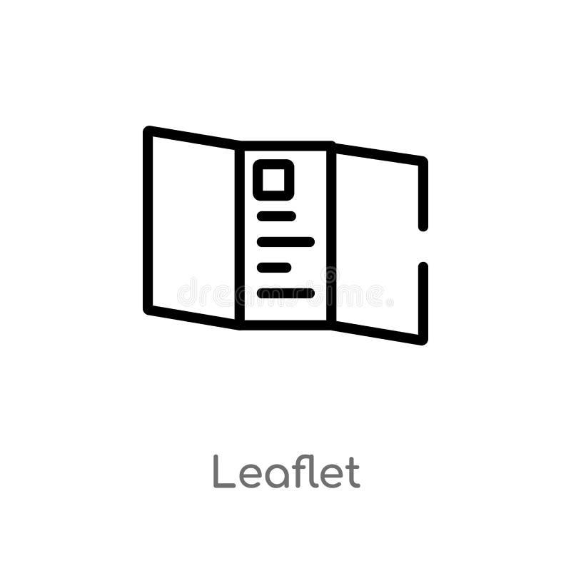 symbol för översiktsbroschyrvektor isolerad svart enkel linje beståndsdelillustration från politiskt begrepp Redigerbar vektorsla royaltyfri illustrationer
