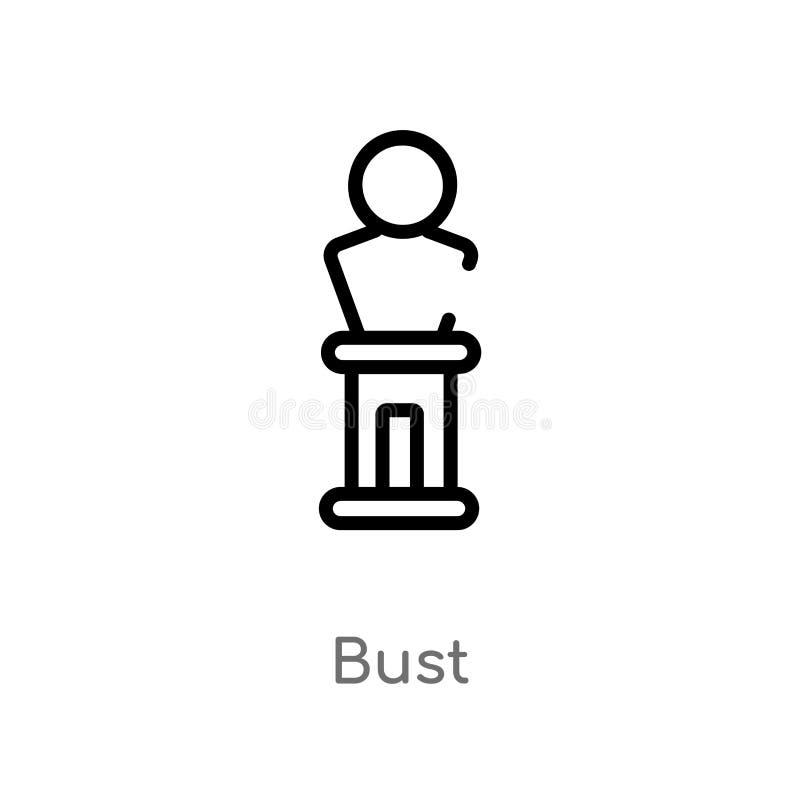 symbol för översiktsbystvektor isolerad svart enkel linje best?ndsdelillustration fr?n museumbegrepp redigerbar symbol för vektor vektor illustrationer