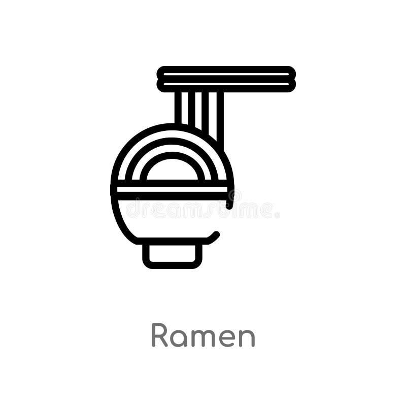 symbol för översiktsramenvektor isolerad svart enkel linje beståndsdelillustration från hotell- och restaurangbegrepp Redigerbar  vektor illustrationer