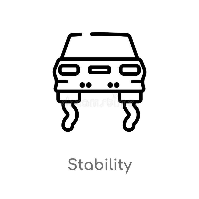 symbol för översiktsstabilitetsvektor isolerad svart enkel linje beståndsdelillustration från transportbegrepp Redigerbar vektors stock illustrationer