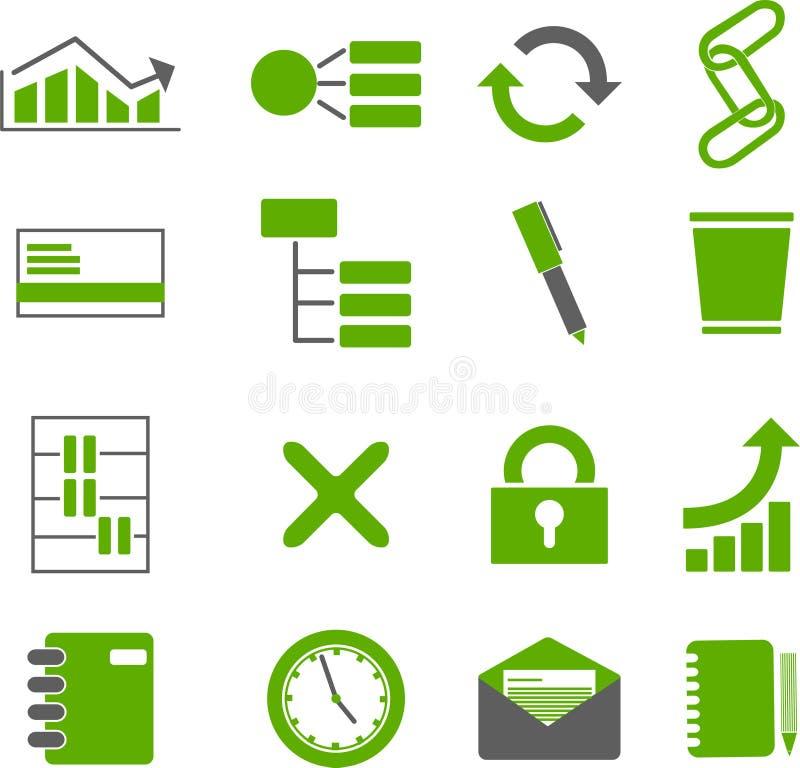 symbol för 2 affär stock illustrationer