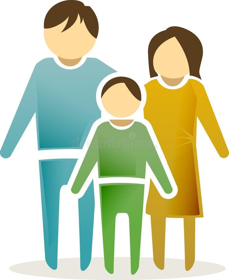 symbol för 2 familj royaltyfri illustrationer