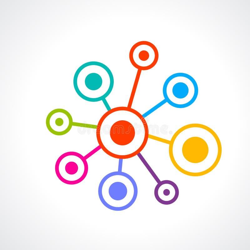 Symbol för abstrakt begrepp för nätverksanslutning stock illustrationer