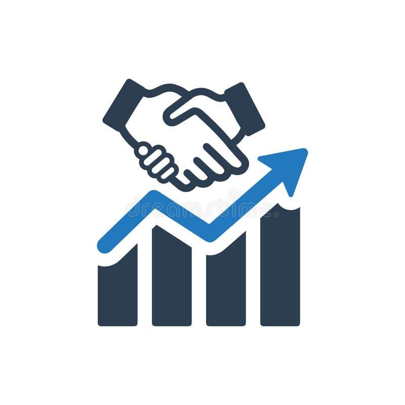 Symbol för affärsförhållande vektor illustrationer