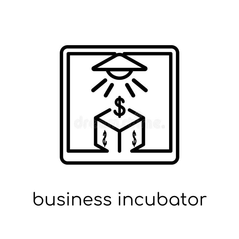 symbol för affärskuvös Moderiktig modern plan linjär vektorbusine stock illustrationer