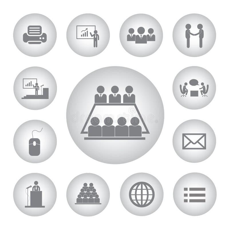Symbol för affärsledning och konferens vektor illustrationer
