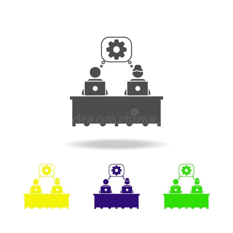 symbol för allmän idé Beståndsdel av kollegasymbolen för mobila begrepps- och rengöringsdukapps Den detaljerade symbolen för den  stock illustrationer