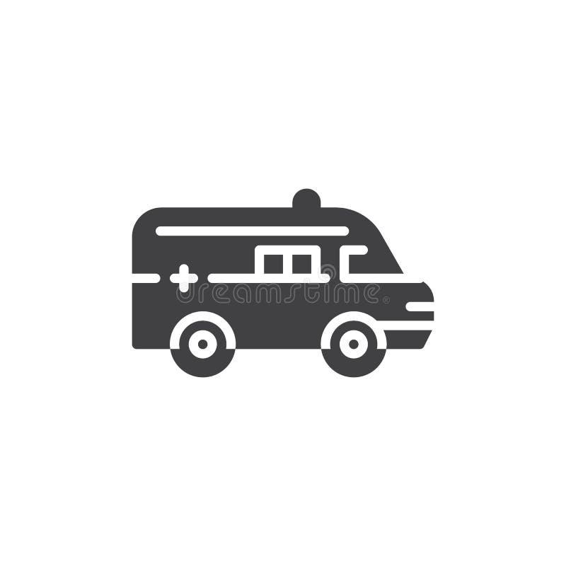 Symbol för ambulansbilvektor stock illustrationer