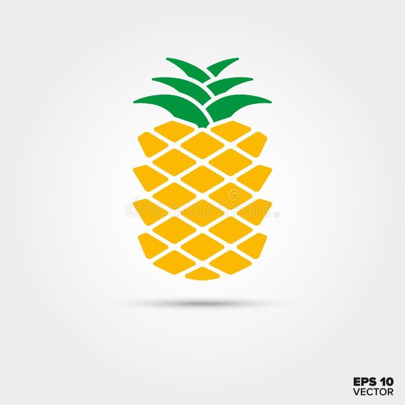 Symbol för ananasfruktvektor royaltyfri illustrationer