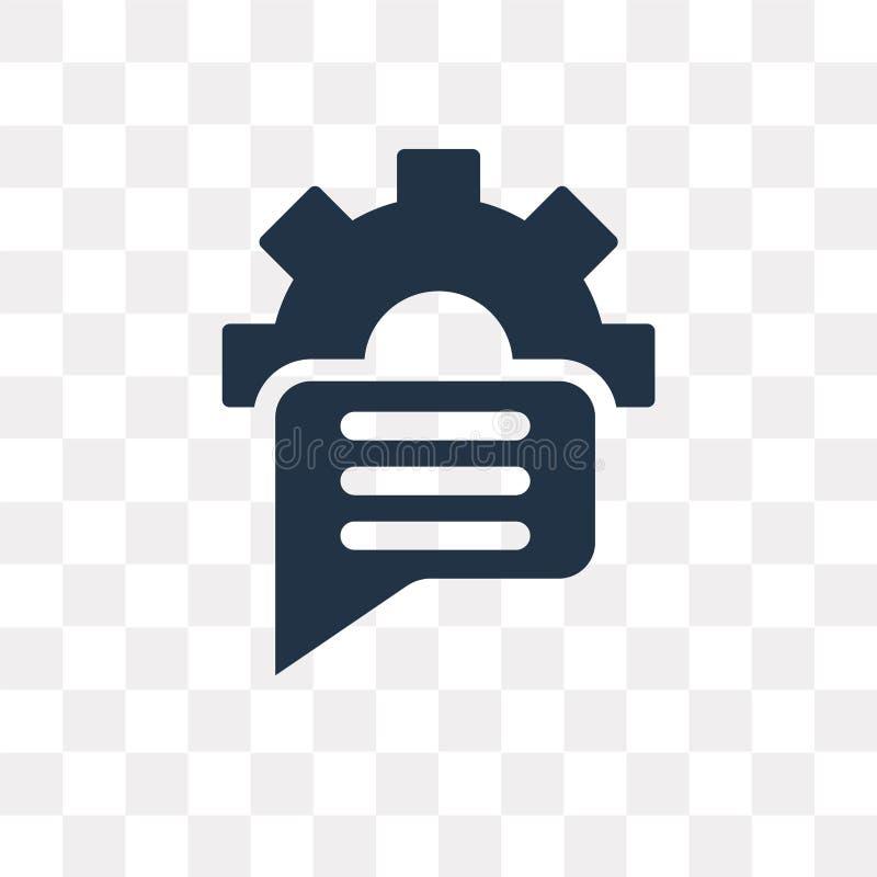 Symbol för anförandebubblavektor som isoleras på genomskinlig bakgrund, Sp royaltyfri illustrationer